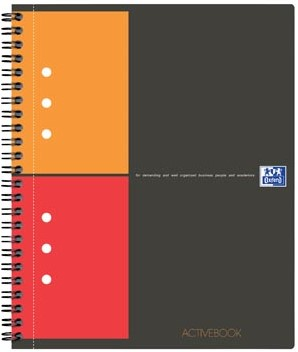 Oxford schrift International Activebook 21 x 29,7 cm A4 geruit 5 mm 4-gaatsperforatie