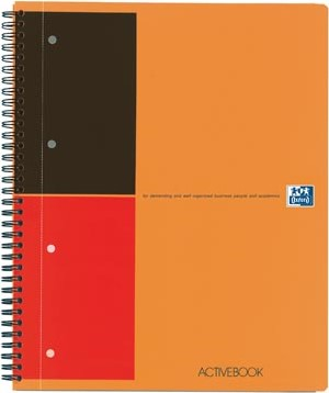 Oxford schrift International Activebook 21 x 29,7 cm A4 gelijnd 4-gaatsperforatie