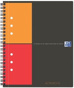 Oxford schrift International Activebook 14,8 x 21 cm A5 geruit 5 mm 12-gaatsperforatie