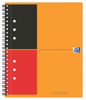 Oxford schrift International Activebook 14,8 x 21 cm A5 gelijnd 12-gaatsperforatie