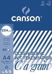 """Canson Tekenblok C"""""""" à grain 224 g/m², ft 21 x 29,7 cm (A4)"""""""""""