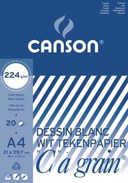 """Canson Tekenblok C"""""""" à grain 224 g/m², 21 x 29,7 cm A4"""""""""""