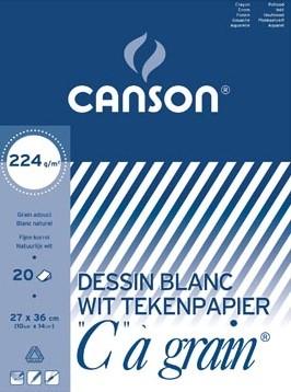 """Canson Tekenblok C"""""""" à grain 224 g/m², 27 x 36 cm"""""""""""