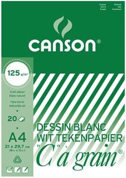"""Canson Tekenblok C"""""""" à grain 125 g/m², 21 x 29,7 cm A4"""""""""""