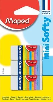 Maped gum Mini Softy blister met 3 stuks