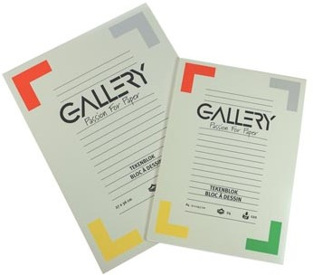 Gallery tekenblok 120 g/m², houtvrij papier 24 blad 21 x 29,7 cm A4