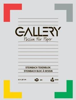 Gallery tekenblok 200 g/m², Steinbach gekorreld 20 blad 27 x 36 cm