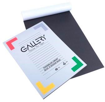 Gallery zwart tekenpapier 24,5 x 34,5 cm