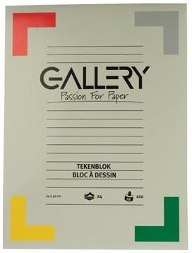 Gallery tekenblok 120 g/m², houtvrij papier 24 blad 24 x 32 cm