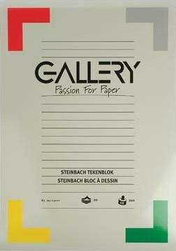 Gallery tekenblok 200 g/m², Steinbach gekorreld 20 blad 29,7 x 42 cm A3