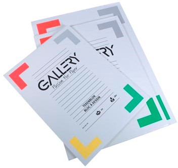 Gallery tekenblok 190 g/m², extra zwaar houtvrij papier 20 blad 24 x 32 cm