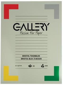 Gallery tekenblok 200 g/m², Bristol 20 blad 27 x 36 cm