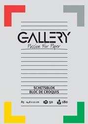 Gallery schetsblok ft 14,8 x 21 cm (A5)