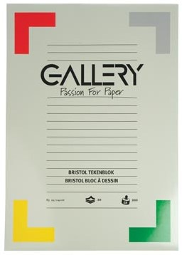 Gallery tekenblok 200 g/m², Bristol 20 blad 29,7 x 42 cm A3