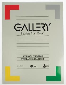 Gallery tekenblok 250 g/m², Steinbach gekorreld 20 blad 27 x 36 cm