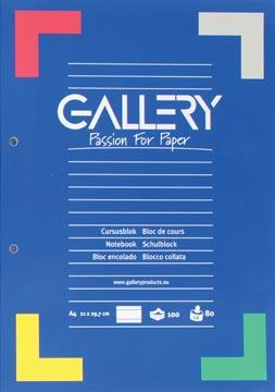 Gallery cursusblok gelijnd, papier van 80 g/m²