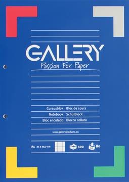 Gallery cursusblok commercieel geruit, papier van 80 g/m²