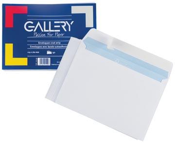 Gallery enveloppen met stripsluiting, pak van 50 stuks