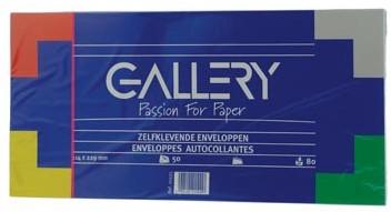 Envelop 114 x 229 mm zonder venster met plakstrip pak van 50 stuks