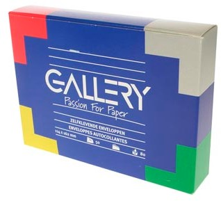 Envelop 114 x 162 met stripsluiting doos van 50 stuks