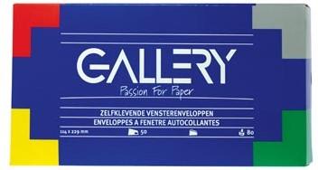 Vensterenveloppen 114 x 229 mm met venster rechts en stripsluiting doos van 50 stuks