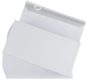 Envelop 110 x 220 mm zonder venster met plakstrip doos van 500 stuks