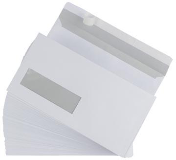 Envelop 110 x 220 mm venster links met plakstrip doos van 500 stuks