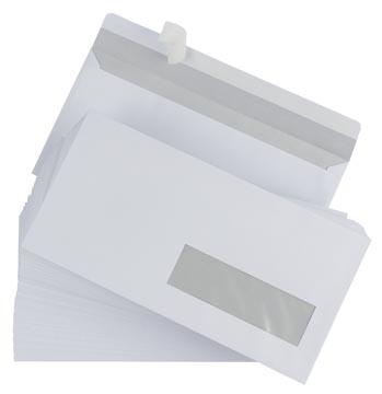 Envelop EA5 110 x 220 mm met plakstrip venster rechts ds/500
