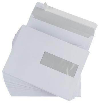 Envelop EA5 156 x 220 mm met plakstrip venster rechts ds/500