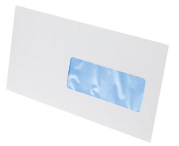 Envelop 114 x 229 mm venster rechts met plakstrip doos van 500 stuks