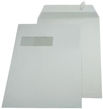 A4 envelop 229 x 324mm venster links met plakstrip doos van 250 stuks