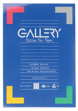 Gallery schrijfblok A4 geruit 100 vel
