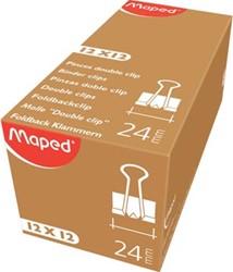 Maped foldbackclip 24 mm, zwart, doos van 12 stuks