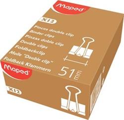 Maped foldbackclip 51 mm, zwart, doos van 12 stuks