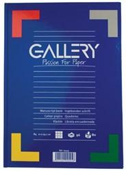 Gallery schrijfblok A4 met harde kaft geruit 5 mm