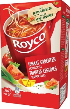 Royco Minute Soup tomaat groenten vermicelli pak van 20 zakjes