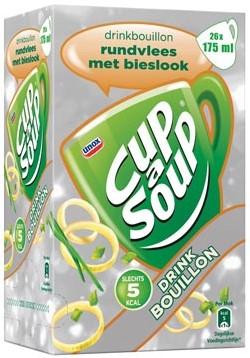 Cup a Soup runderbouillon met bieslook