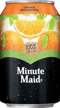 Minute Maid Orange vruchtensap blik 33cl pak van 24 stuks