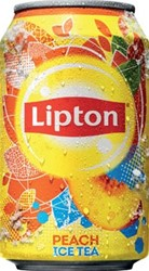 Lipton Ice Tea Perzik frisdrank, blik van 33 cl, pak van 24 stuks