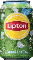 Lipton Ice Tea Green frisdrank, blik van 33cl, pak van 24 stuks