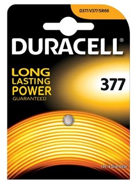Duracell batterijen voor horloge 377 batterij voor horloge - Duralock technologie energie preservatie...
