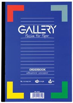 Gallery orderbook zelfkopiërend