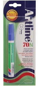 Permanent marker Artline 70 blauw op blister