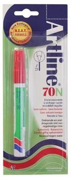 Permanent marker Artline 70 rood op blister