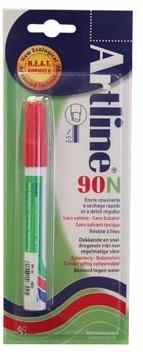 Permanent marker Artline 90 rood op blister