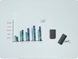 Magnetisch glasbord Bi-Office Prime 90 x 60 cm wit