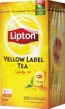 Lipton thee Yellow Label Squeezable doos van 25 zakjes