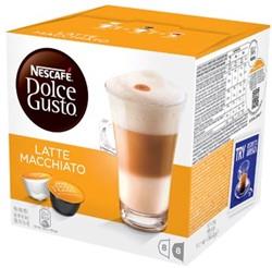 Nescafé Dolce Gusto cups, Latte Macchiato, pak van 16 koffiecups