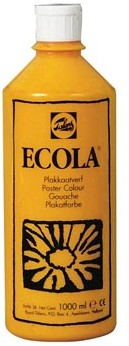Talens Plakkaatverf Ecola flacon van 1.000 ml geel