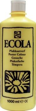 Talens Plakkaatverf Ecola flacon van 1.000 ml citroengeel